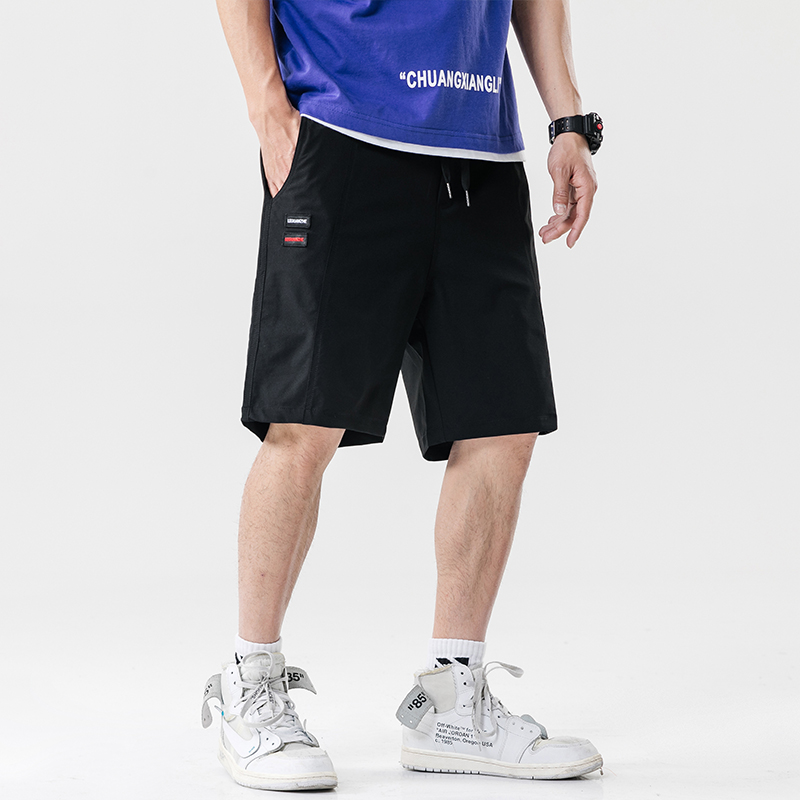 Summer Casual Shorts Streetwear Straight Men Brand New Board Shorts Solid Breathable Elastic Waist Fashion Casual Short Trousers