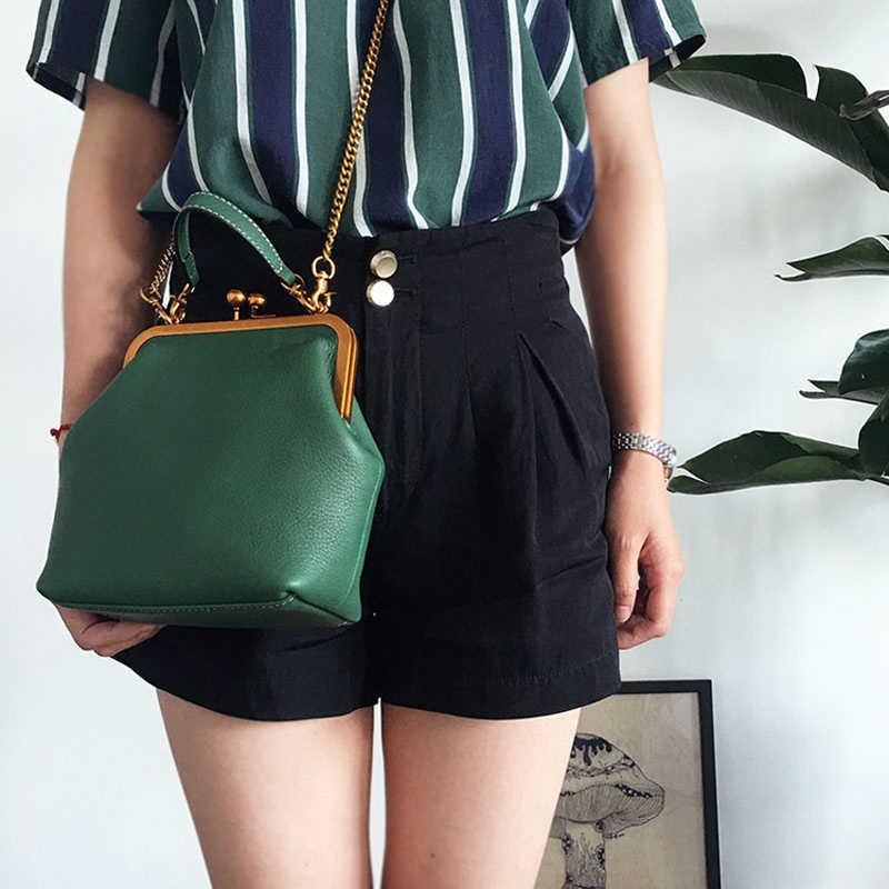 Новинка 2019 года Kiss lock Сумки Модные Винтаж дизайнерская сумка для женщин леди из искусственной кожи цепи плечо Crossbody женская