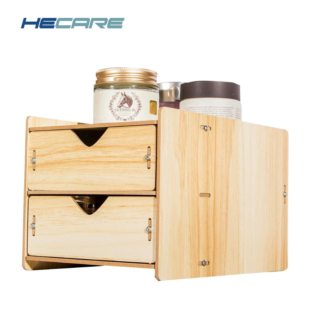 Hecare Desktop Wooden Drawer Organizer