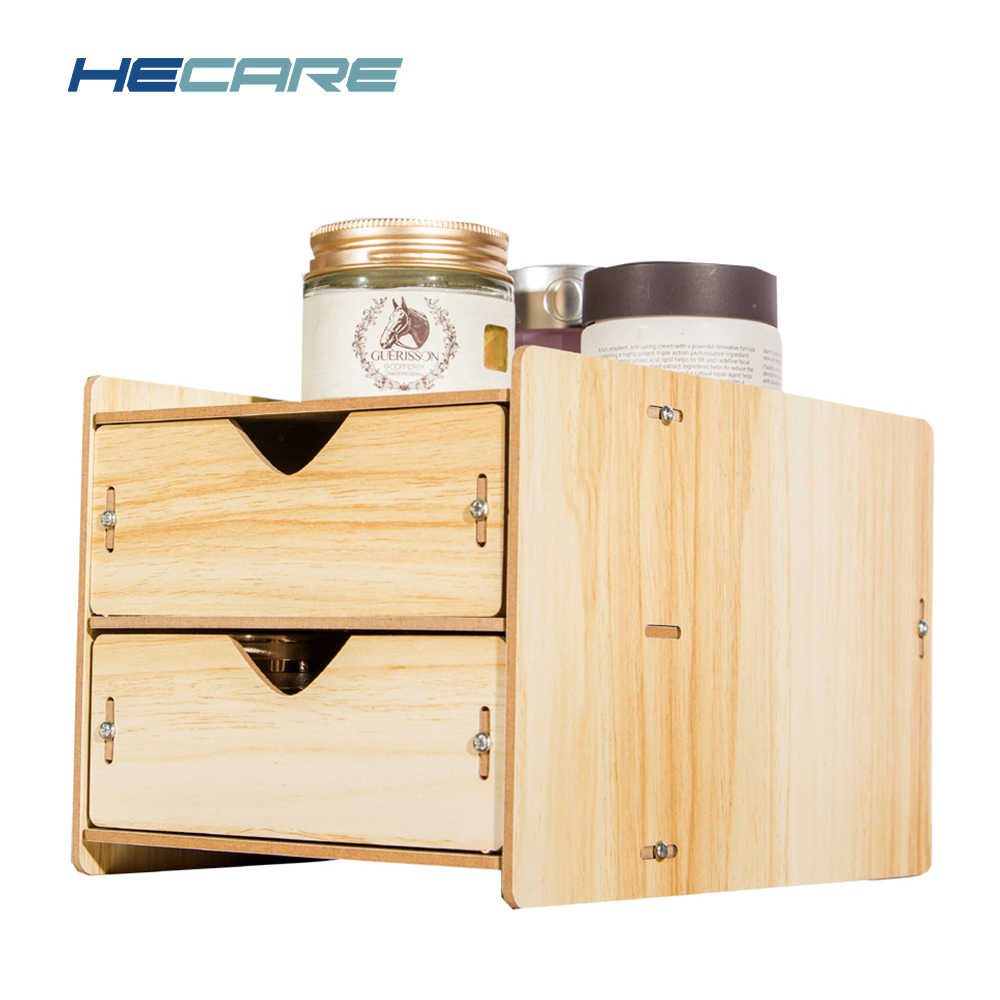 HECARE настольные деревянные Ящик Организатор офис два слои всякой всячины коробка для хранения с ящиками деревянный Органайзер Ящики контейнер