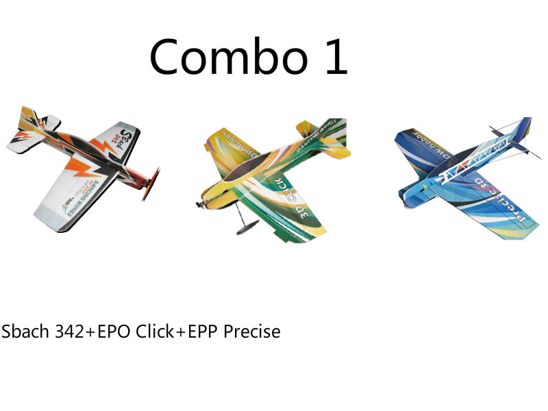 EPP/EPO Airplane Model 3D Airplane Models Combo 3pcs in each Carton Box Radio Control RC Model Plane aircraft x uav mini talon epo 1300mm wingspan v tail fpv rc model radio remote control airplane aircraft kit