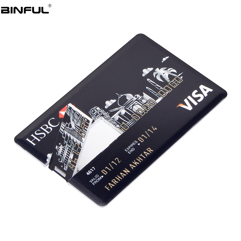 Image 2 - Portable Pen Drive Bank Card HSBC Usb Flash Drive 4GB 8GB 16GB 32GB 64GB 128GB Usb 2.0 Pendrive High Quality Usb Stick Best Gift-in USB Flash Drives from Computer & Office