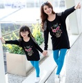 Cartoon Cat Parent-Child family clothes set Long sleeve T-shirts+Legging Pants 2pcs Clothes for mother and daughter, RB518