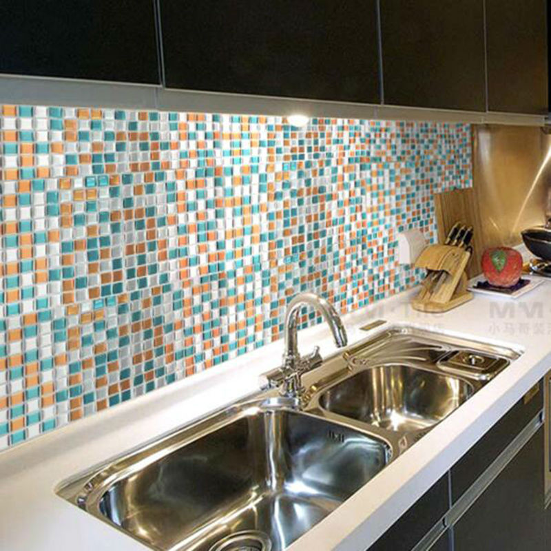Peel and stick wall tile high quality anti mold kitchen for Peel and stick wallpaper for kitchen