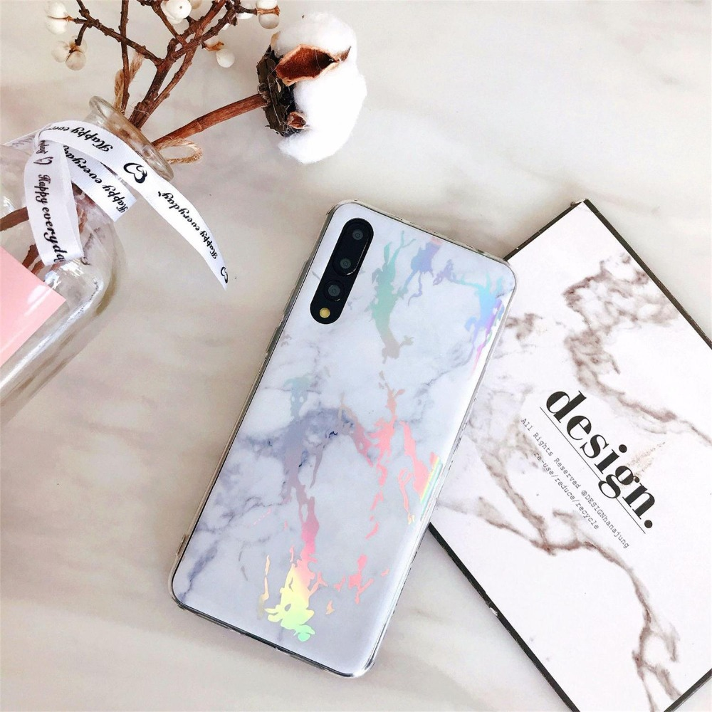 Suntaiho Plating Marble Phone cases for Huawei P20 Pro Lite Soft TPU for Huawei P20 Pro Nova 3i on Honor 10 7A 7C Y5Prime 2018