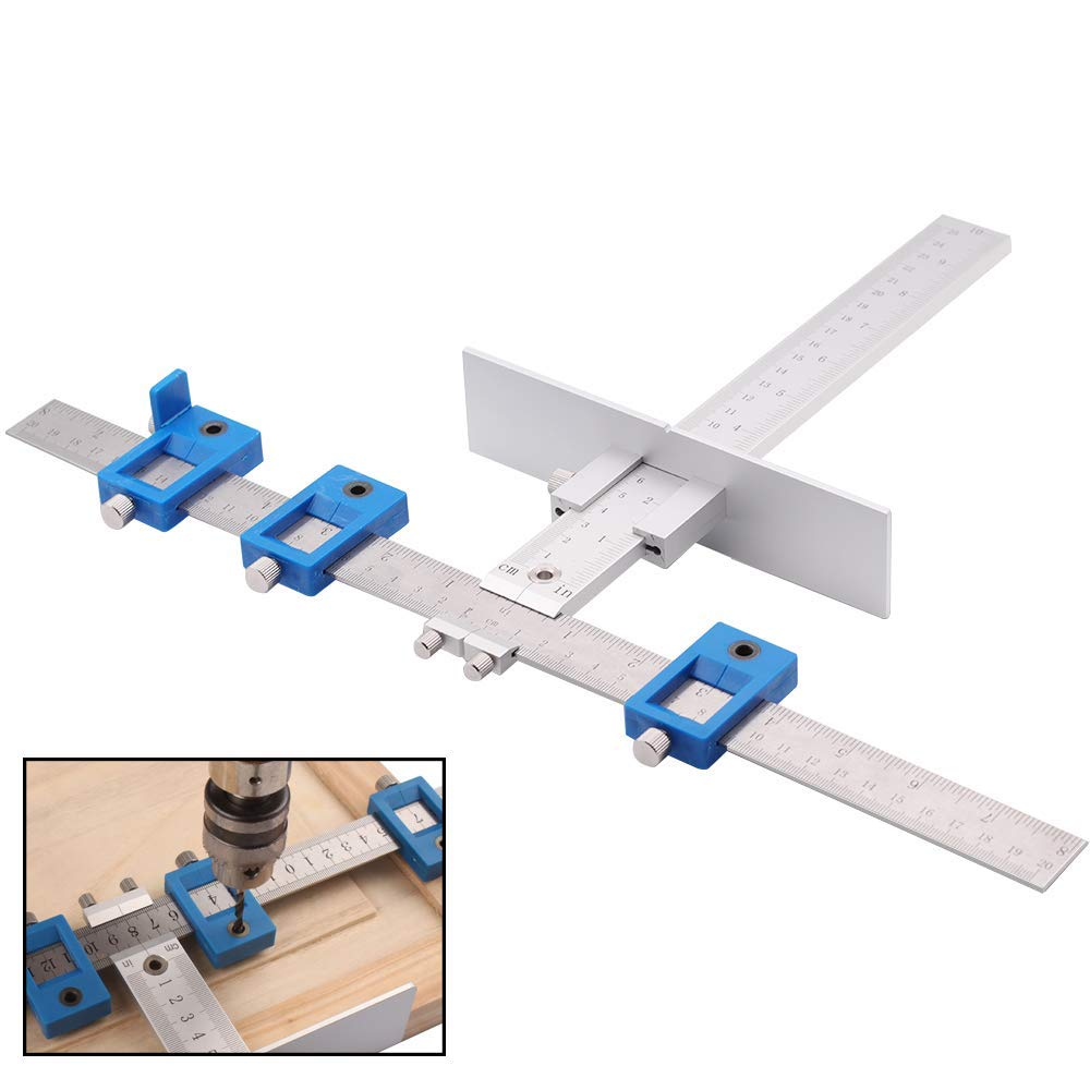 Cabinet Hardware Jig for Handles and Knobs on Doors and Drawer Fronts,Fastest and Most Accurate Knob & Pull Jig TCabinet Hardware Jig for Handles and Knobs on Doors and Drawer Fronts,Fastest and Most Accurate Knob & Pull Jig T