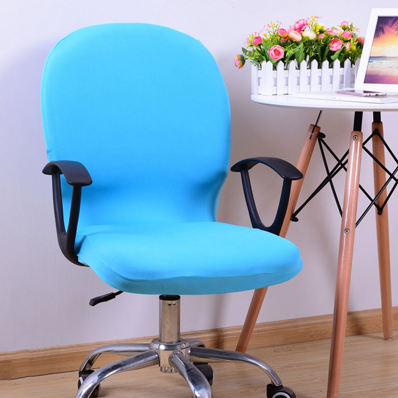 Office Rotating Lift Chair Cover Office Computer Chair Cover Stretch Elastic Chair Cover for Home Office Removeable Slipcovers