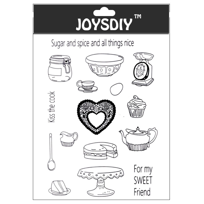 Scrapbook DIY photo cards account rubber stamp clear stamp transparent stamp Handmade card stamp KISS THE COOK FOR MY FRIEND