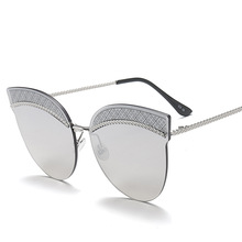 Новинка 2017 личности, брови бурения очки, женской моды большой кадр солнцезащитные очки