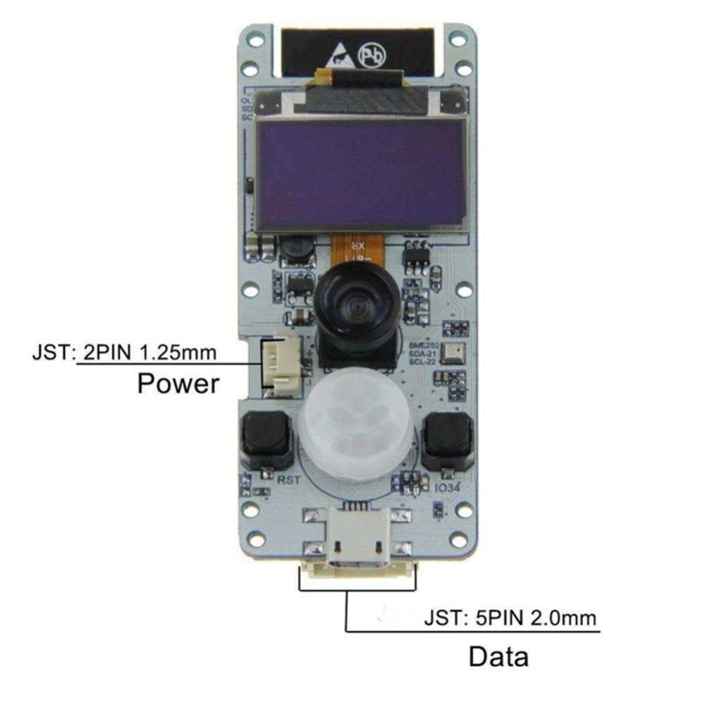 For TTGO 0.96 OLED T-Camera ESP32 WROVER & PSRAM Camera Cam Module ESP32-WROVER-B OV2640 Camera Fish-eye Lens With PIR Sensor