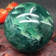حجر فلوري طبيعي الكوارتز كرة كريستال الكرة الشفاء