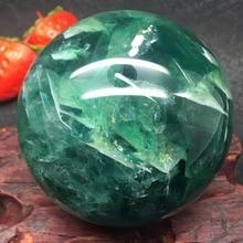 ธรรมชาติ Fluorite ควอตซ์คริสตัลบอล Healing