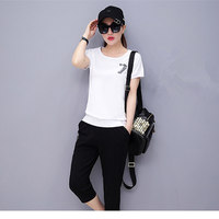 Mm Summer 2017 Plus Size Clothing Twinset 200 Summer Sports Set 5219