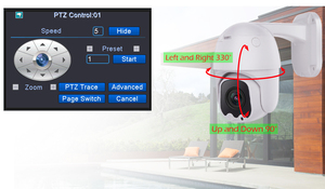 Image 3 - Usafeqlo AHD5MP 5X Mini Ptz Dome Camera 5MP 5X Ahd Camera 30M Ir Outdoor Cctv Camera Ondersteuning RS485 Coaxiale controle Functie