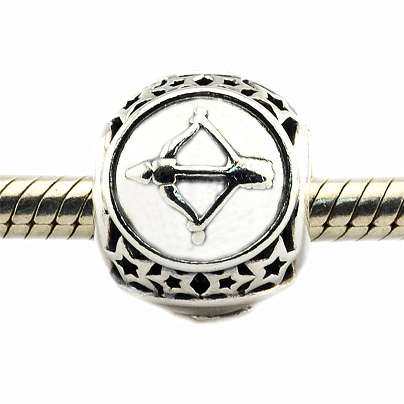 Charm Fit Original Pandora Bracelet Bead DIY Jewelry Sagittarius Star Sign 100% Real 925 Sterling Silver Charm Jewelry FL423