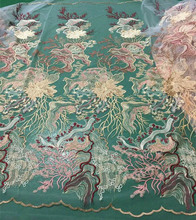 New Embroider cotton lace fabric Rhinestone High Quality African trim for wedding dress 2018 french swiss 5y