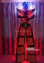 LED robot Costume /LED Robot suits/ LED Clothing/The programming controller sets the helmet