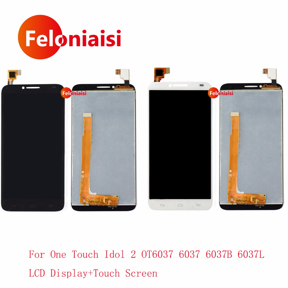 5.0 For Alcatel One Touch Idol 2 OT6037 6037 6037B 6037L Lcd Display With Touch Screen Digitizer Sensor Panel Assembly Complete