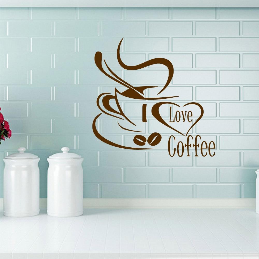 3D Coffee Vinyl Wall Stickers Art Decal Coffee Shop ...