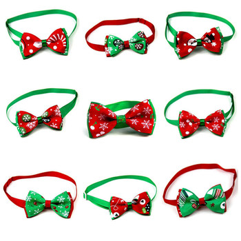 Christmas Holiday Pet Cat Dog Collar Bow Tie Adjustable Neck Strap Cat Dog Grooming Accessories Pet Product Supplies Christmas 1