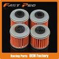 4 X Filtro de Óleo Limpo Para TRX450ER TRX450R CRF150R CRF250R CRF250X CRF450R CRF450X Enduro Supermoto Motocross ATV