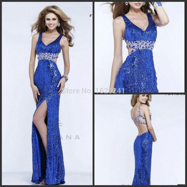 Vestidos de color azul cobalto