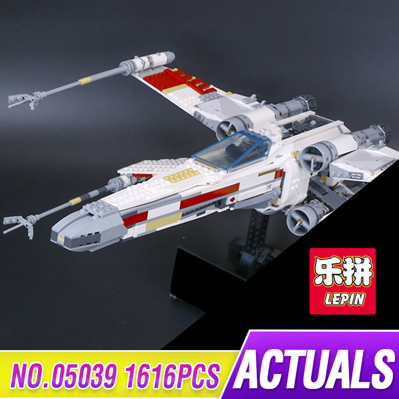 Lepin 05039 1586pcs New Star Series Wars The X Model Wing Red Five Star fighter Set Building Blocks Bricks Toys 10240 for gift футболка классическая printio red five star wars