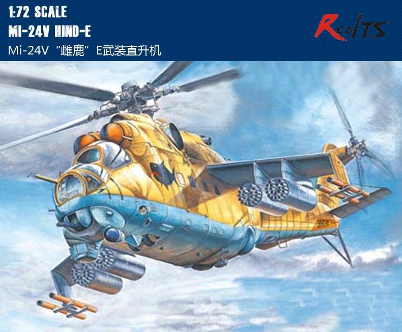 RealTS Hobby Boss MODEL 1/72 87220 Mi-24V Hind-E Fighter Plane Plastic Model Kit Hobbyboss