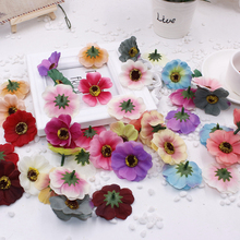 200pcs/bag Mini Daisy Flower Heads artificial flowers creative silk romantic wall wedding Wedding car Decoration