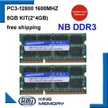 KEMBONA laptop ddr3 1600mhz 8GB (zestaw 2X4 GB) DDR3 PC3-12800s 1 5V So-DIMM 204 pinów moduł pamięci Ram Memoria na laptopa tanie tanio 204pin 2x dwukanałowy Dożywotnia Gwarancja NON-ECC 11-11-11-28 LAPTOP DDR3 8GB Kit 1 5 V 1600 mhz Original chipset LIFETIME WARRANTY