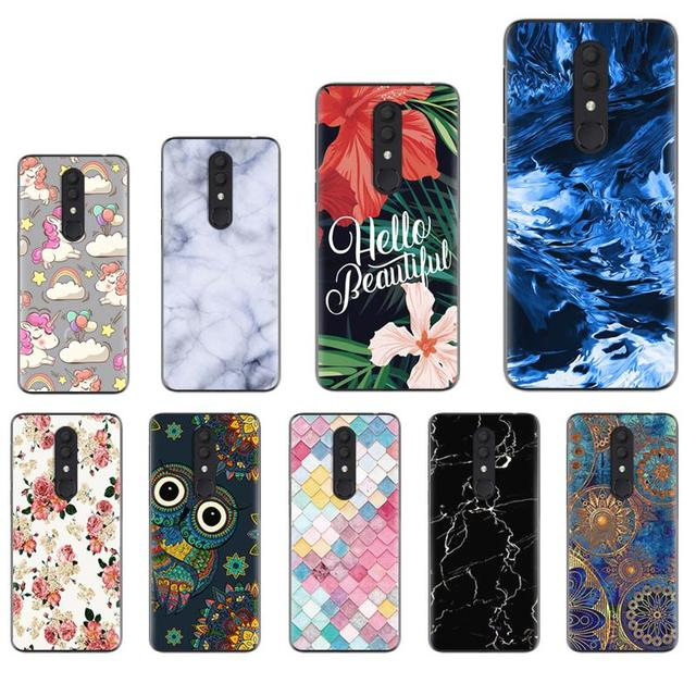 غطاء هاتف خلفي مقاوم للصدمات لهاتف الكاتيل 3 (2019)/5053 تصميم عصري رائع حافظة لينة ملونة مطلية غطاء سيليكون من البولي يوريثان