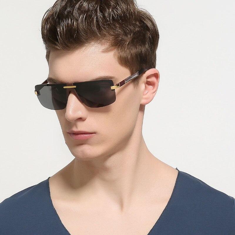 steampunk Schutzbrillenmänner carter randlose Sonnenbrille - Bekleidungszubehör - Foto 2