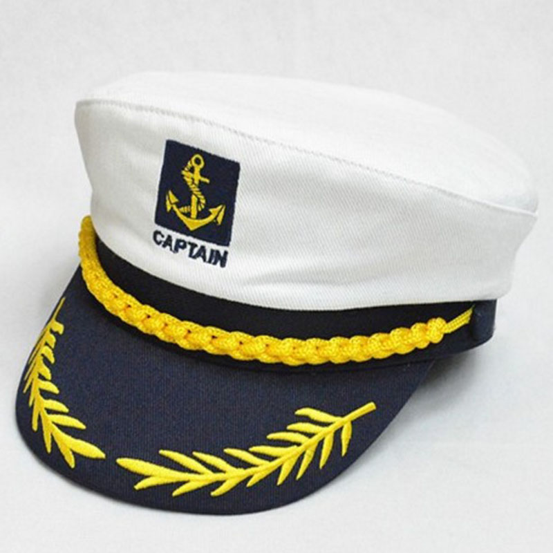 3 Color Adult Children 2018 Vintage New Men Women Flat Sailor Military Caps Uniform Captain Skipper Navy Cosplay Boating Hats