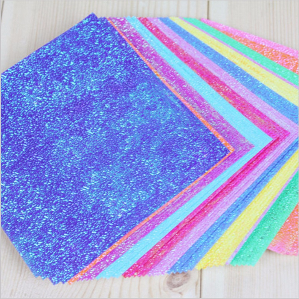 Origami Paper Single Side Shining Folding Solid Color Papers ...