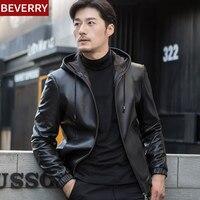 Модные Для мужчин зимние Кожаные куртки искусственная куртка корейский Стильный Slim Fit Пальто Для мужчин мото череп замшевая куртка для Для