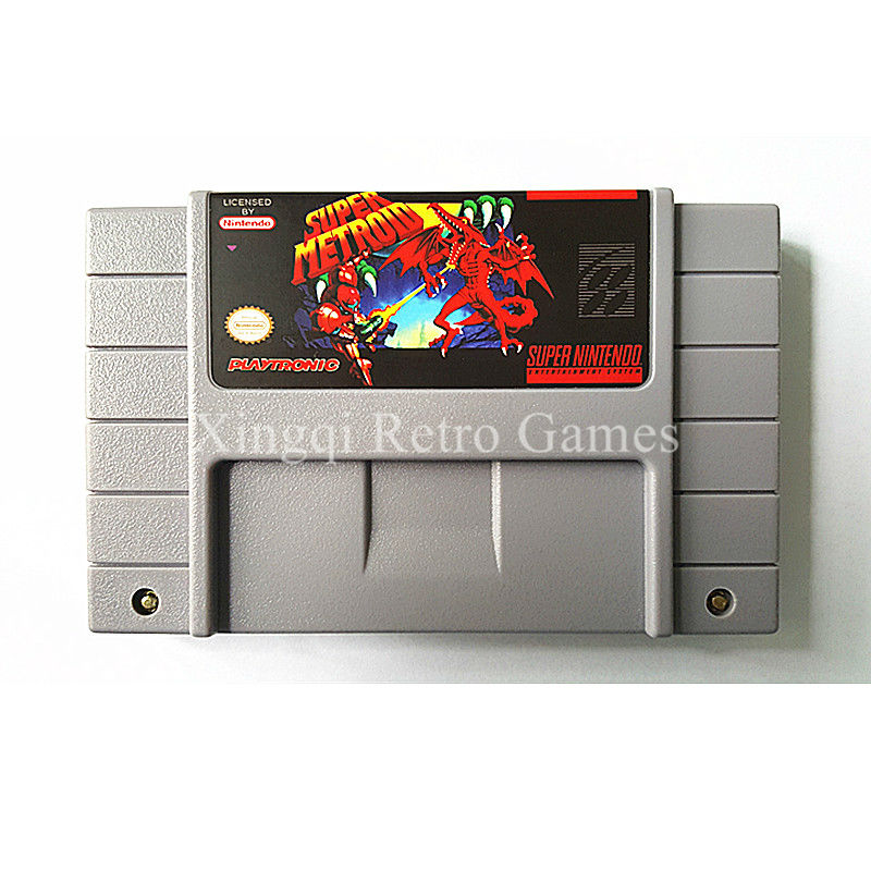 Super Nintendo SFC/SNES Game Super Metroid Video Game Cartridge Console Card NTSC US English Version