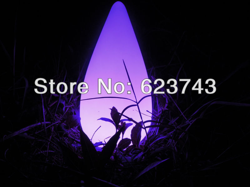 ФОТО Free shipping 16 Colors Colorful LED Cone lamp Break-resistant,rechargeable led Water Drop lamp waterproof Pool Light cordless