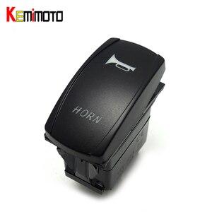 Светодиодный Кулисный лазерный переключатель KEMiMOTO BLUE HORN, лебедка с подсветкой, UTV для Polaris Ranger 900 800 RZR RZR4 1000 900