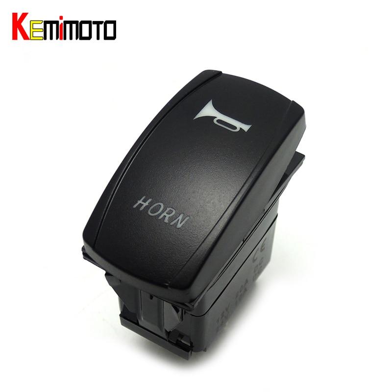 KEMiMOTO For Polaris Ranger 900 800 RZR RZR4 1000 900 UTV BLUE HORN LED Rocker Laser Switch Illuminated Winch IN OUT Switch
