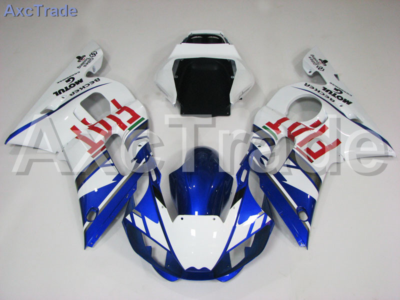 Motorcycle Fairings Kits For Yamaha YZF600 YZF 600 R6 YZF-R6 1998-2002 98 - 02 ABS Injection Fairing Bodywork Kit Blue White motorcycle fairings for yamaha yzf600 yzf 600 r6 yzf r6 1998 1999 2000 2001 2002 abs injection molding fairing bodywork kit 116