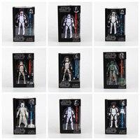 Star Wars The Black Series Sandtrooper Boba Fett Stormtrooper Clone Trooper PVC Hành Động Hình Toy Sưu Tập Mẫu Dolls 15 cm