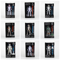 Star Wars A Série Negra Sandtrooper Boba Fett Stormtrooper Clone Trooper PVC Action Figure Toy Collectible Modelo Dolls 15 cm