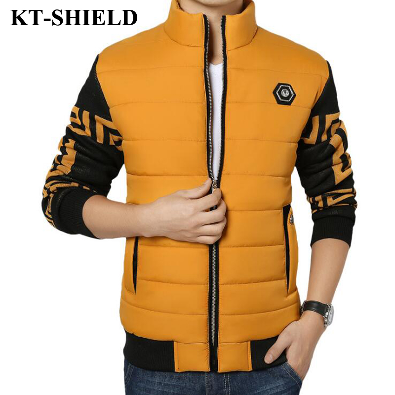Men Winter Jackets And Coats New Style Thickening Warm Slim Down Cotton Padded Parkas For Men