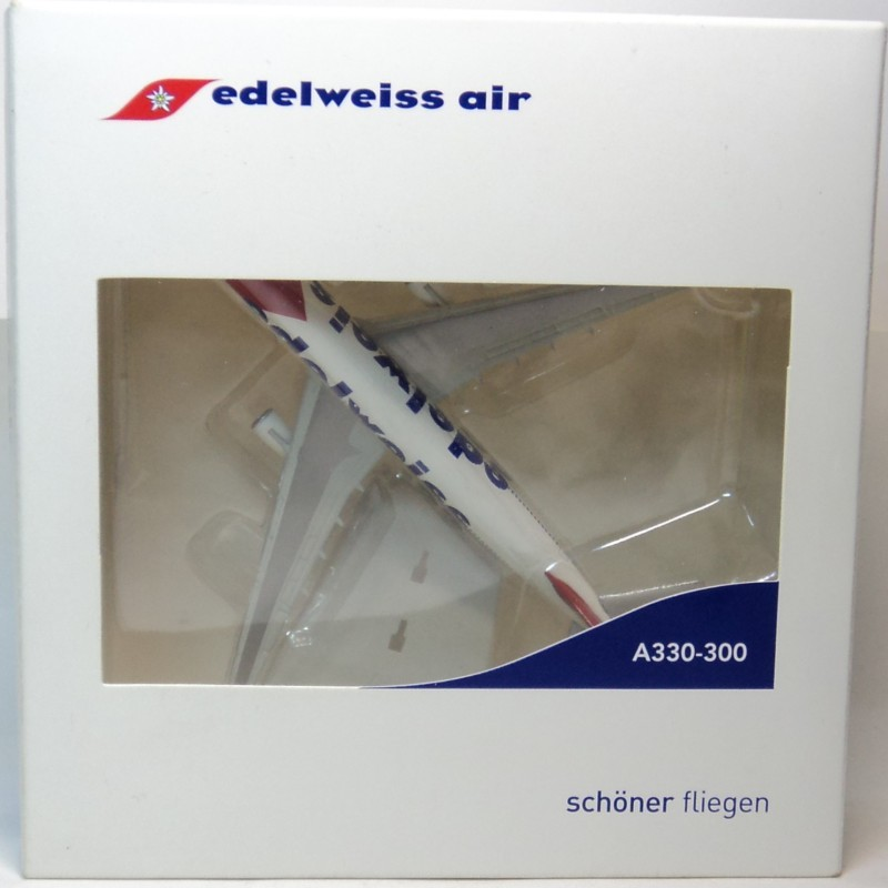 Edelweiss air A330-300 Herpa aircraft 1:500 model edelweiss scorpion 1