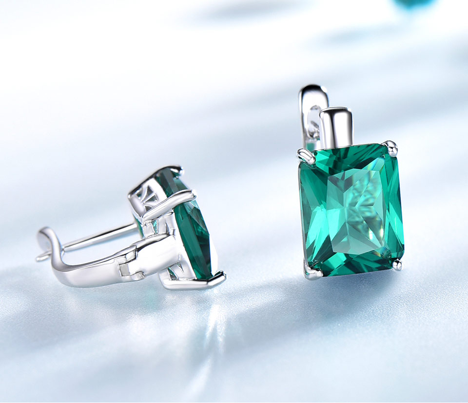 UMCHO-Emerald-925-sterling-silver-clip-earrings-for-women-EUJ083E-1-PC_04