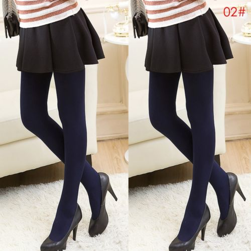 2017 New In Womens Spring Autumn Thermal Thick Warm Fleece Stockings lined Skinny Stretch Fashion Slim Tights