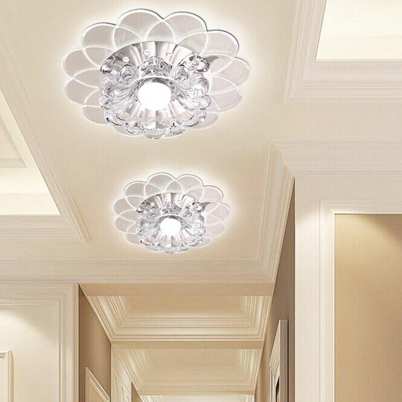 Nový barevný styl křišťálových stropních světel K9 vedl 3W kulaté uličky osvětlení vstupní chodba nástěnná svítidla lampa