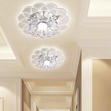 New colorful Style K9 Crystal Ceiling Lights Led 3W Round Aisle Lighting Entrance Hallway Sconce Lights Lamp все цены