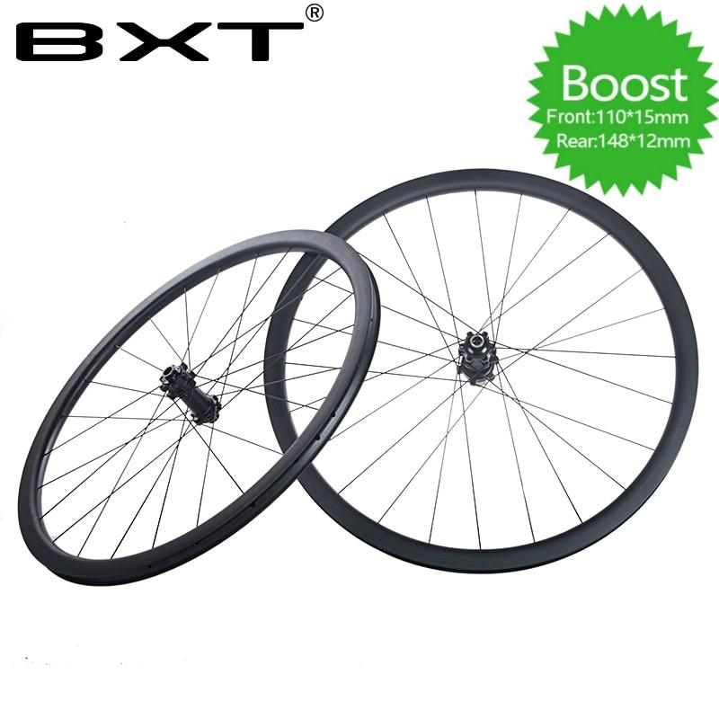 Livraison gratuite en alliage d'aluminium vtt roues 29er vtt bikewheelset montagne vélo tubeless roue boost roue QR 148*12mm 110*15mm
