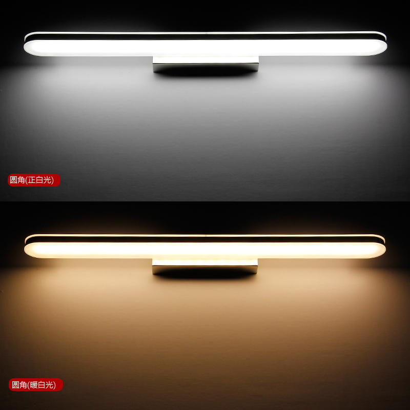 led bathroom mirror 8w brief stainless steel indoor wall lights for home vanity lamp luminaire bedroom